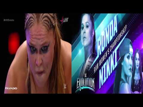 WWE Evolution Ronda Rousey Vs Nikki Bella Raw Womens Title 720p ᴴᴰ Latino
