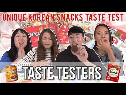 UNIQUE KOREAN SNACKS | Taste Testers | EP 57