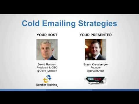 Cold Emailing Strategies Webinar With Breakthrough Email Sandler Training from YouTube · Duration:  1 hour 29 minutes 42 seconds