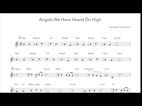 Angels We Have Heard On High (Lead sheet) / あら野のはてに