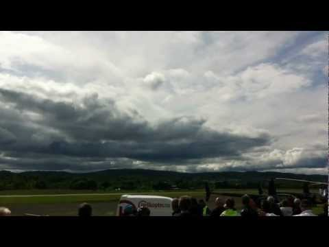 F-16 jet air fighter at Airshow in Norway