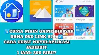 Cara cepat nuyul aplikasi JadiDuit   APLIKASI PENGHASIL UANG DANA OVO &  LINK AJA screenshot 2