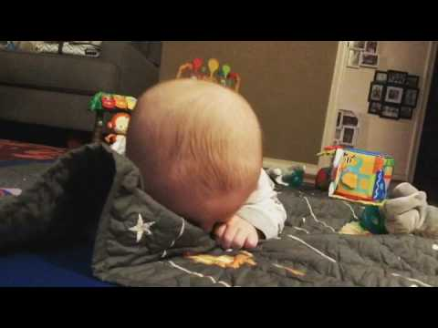 Keenan Fox playing peek-a-boo @ five months old - This will make your day!