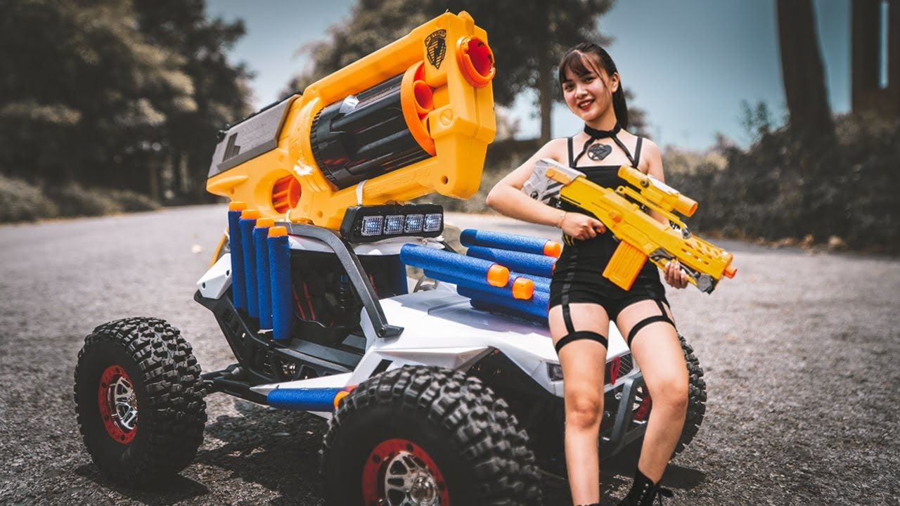 Transformers Autobots Nerf Guns Fight Criminal Rescue X Girl  Action Nerf War