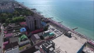 Курортный городок с квадрокоптера, Сочи, Адлер, новостройки