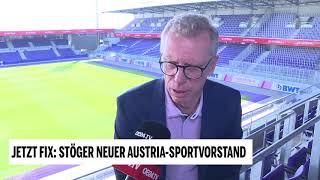 Wiener Austria: Peter Stöger wird Sportvorstand