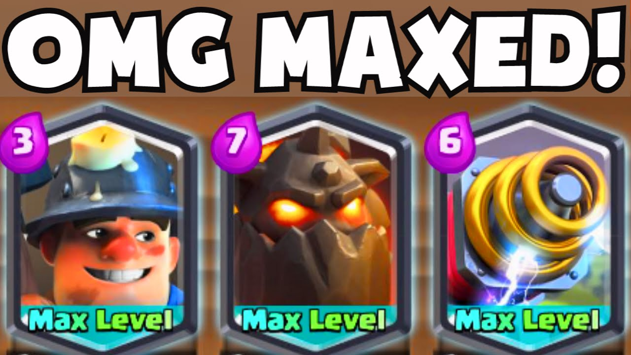Clash Royale Maxed Level Lava Hound Sparky Miner New
