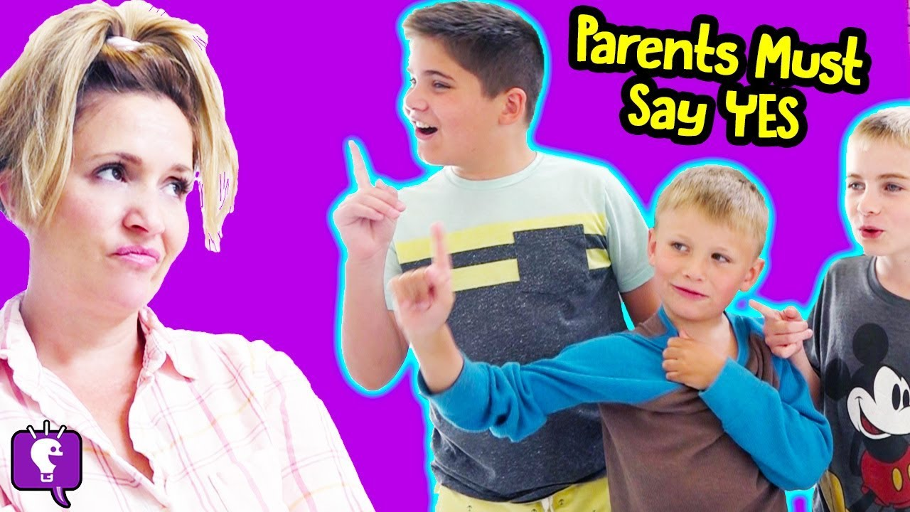 PARENTS CANT SAY NO for 24 Hours Challenge! by HobbyKids