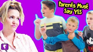 PARENTS SAY YES to EVERYTHING for 24 Hours! Challenge by HobbyKidsTV