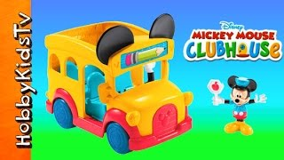 Mickey Mouse Bus! Disney Kinder Egg, Clubhouse School Bus, Chocolate, Princess HobbyKidsTV