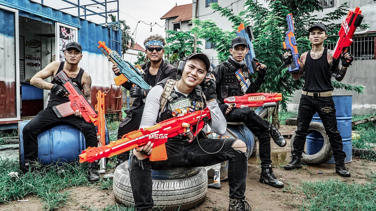 LTT Game Nerf War : Police Patrol Warriors SEAL X Nerf Guns Fight Elite Criminal Group Mr Zero Crazy