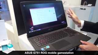 ASUS G751 ROG mobile gamestation with up to Nvidia GeForce GTX 980M Maxwell