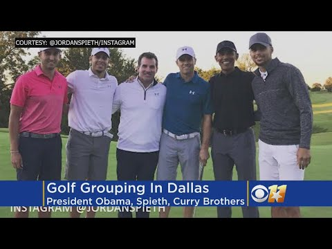Spieth Hits Links With Obama, NBA's Curry Brothers