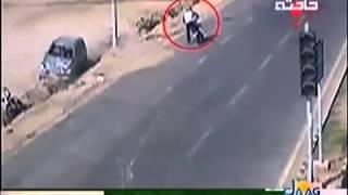 Accident in Karachi Defence, CCTV 2017 Video