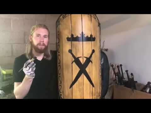 BEHIND THE SCENES: Painting a LARP shield.