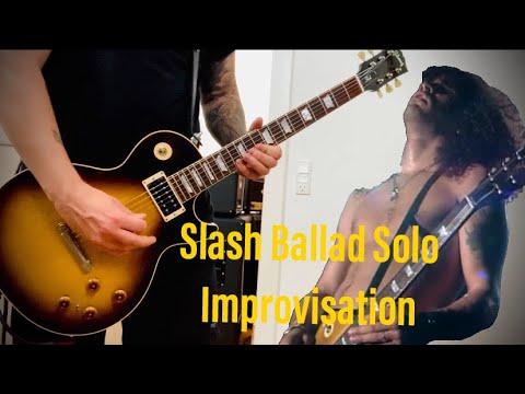 Slash Ballad Solo Improvisation (NEW GUITAR!)