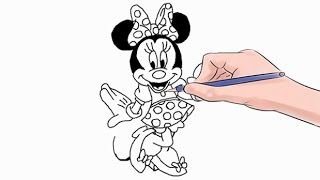 How to Draw Minnie Mouse Easy Step by Step