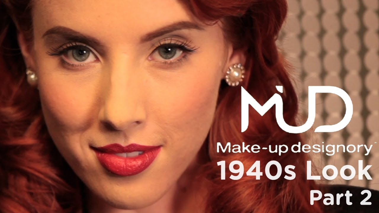 1940s hair and makeup styles 1940s makeup tutorial part 2 5273