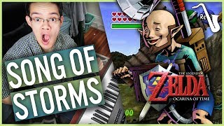 Zelda Ocarina of Time: Song of Storms Jazz Cover || insaneintherainmusic