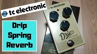 TC Electronic Drip Spring Reverb Pedal | Review Demo
