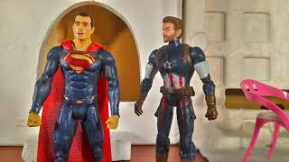 Super Cafe || Stop Motion || Superman || Captain America || DC Comics || Marvel Comics ||