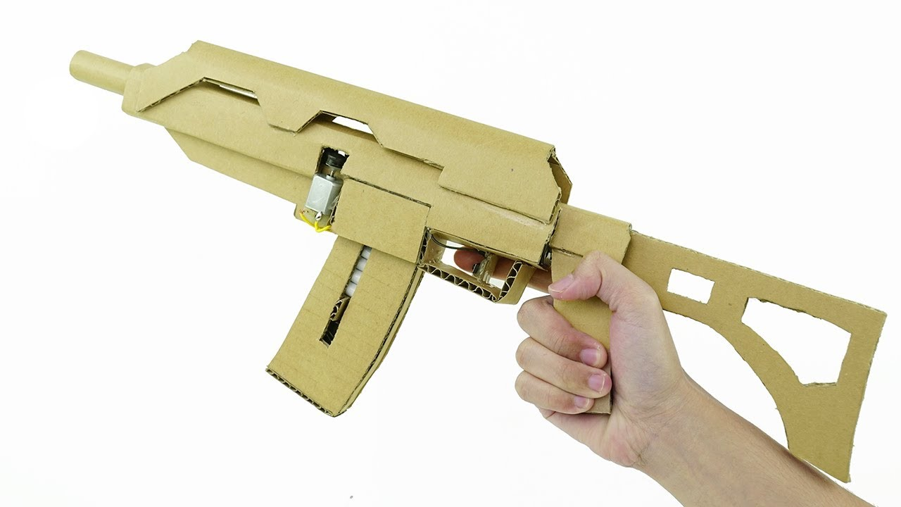 how to make a rifle out of cardboard