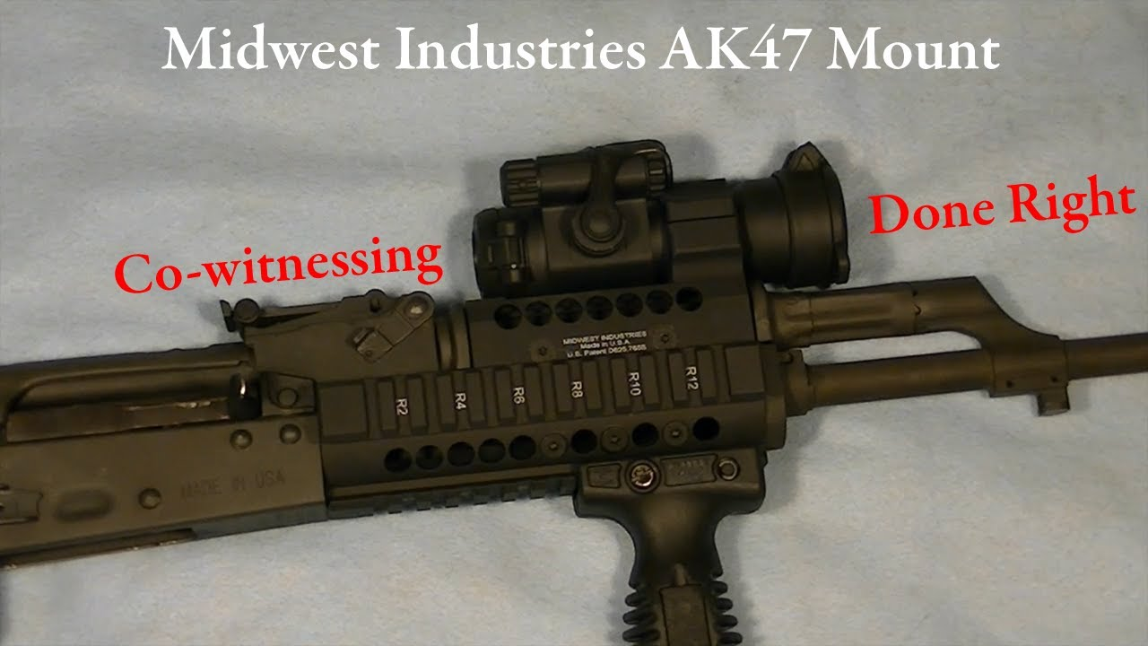 midwest industries ak47 co witness optic mount youtube