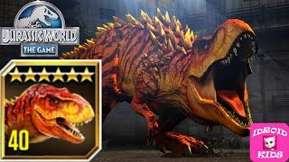T-REX MAX LEVEL 40 - Jurassic World The Game