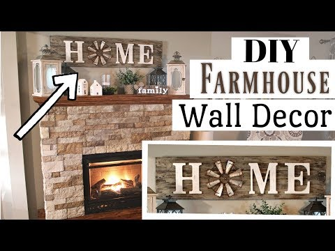 DIY Farmhouse Wall Decor Wood | Pallet Wood Farmhouse Sign | Krafts by Katelyn