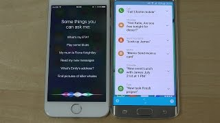 iPhone 6 iOS 9 Beta Siri Meets Samsung Galaxy S6 Edge S Voice! (4K)