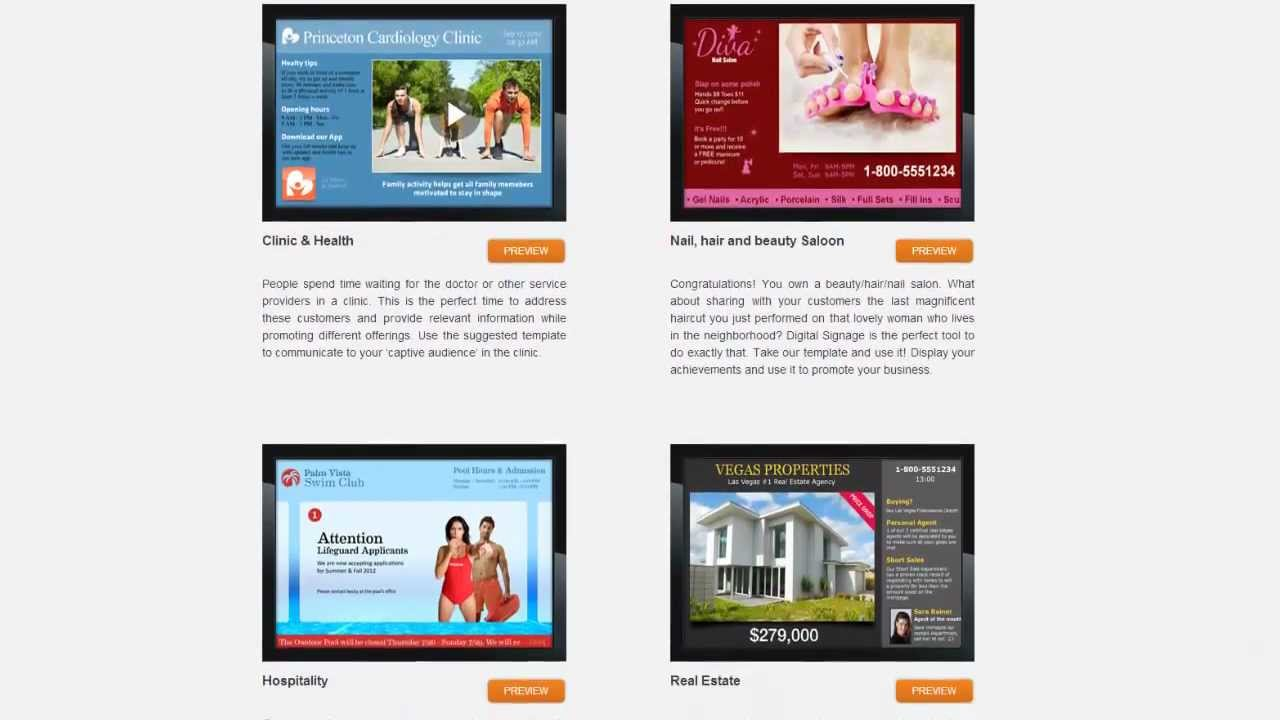 Digital Signage Templates By NoviSign YouTube - Digital signage templates