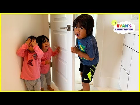 Kids Hide and Seek and Sleeping in the new house for the first time with Ryans Family Review!!!