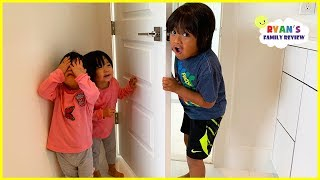 Kids Hide and Seek and Sleeping in the new house for the first time with Ryan
