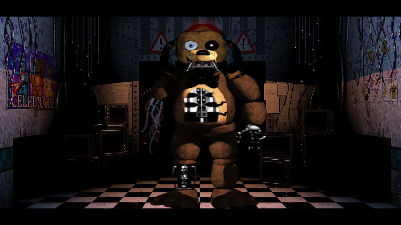 nightmare sparky the dog. (fnaf speed edit) withered sparky nightmare the dog
