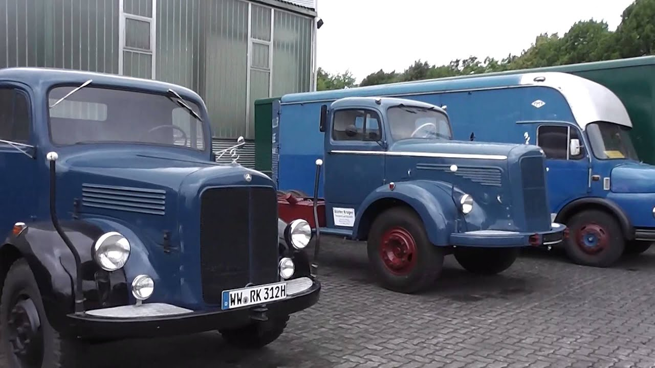 Old german mercedes benz trucks in hd youtube for Mercedes benz commercial trucks