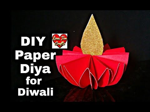 DIY - Paper Diya for Diwali | How to Make Paper Diya for Diwali