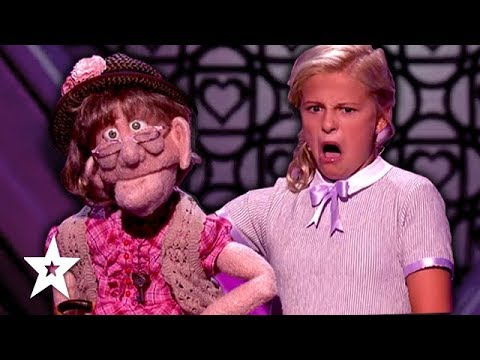 DARCI LYNNE'S NAUGHTY PUPPET Edna Has the HOTS for Simon Cowell On America's Got Talent 2017