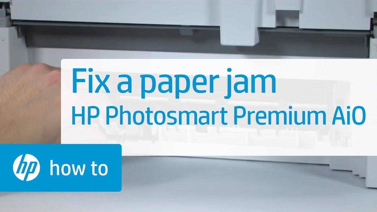 fixing a paper jam hp photosmart premium all in one printer c309a rh youtube com HP Photosmart Premium C309a Printhead For a HP Photosmart Premium C309a Ink