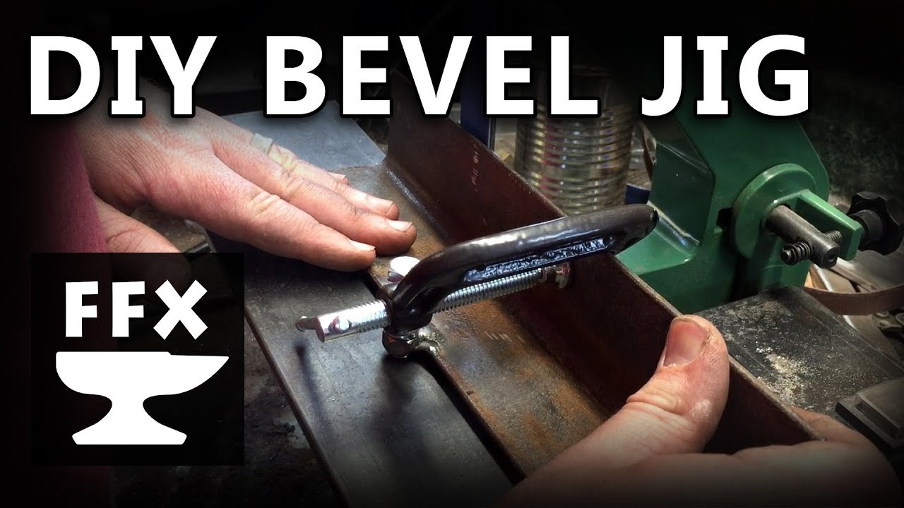 "how to make a bevel jig the ""easy"" way (featuring electrical arcs, sparks  and smoke!)"