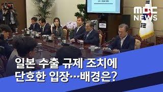 일본 수출 규제 조치에 단호한 입장…배경은? (2019.07.15/뉴스데스크/MBC)