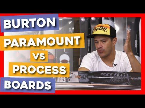 2020 Burton Paramount Vs Process Snowboards