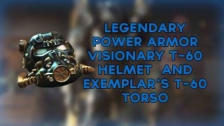 Fallout 4: LEGENDARY Power Armor Location - Visionary T-60 Helmet  and Exemplar's T-60 Torso