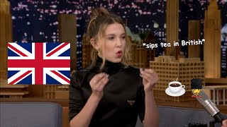 millie bobby brown being british for 5 minutes and 7 seconds