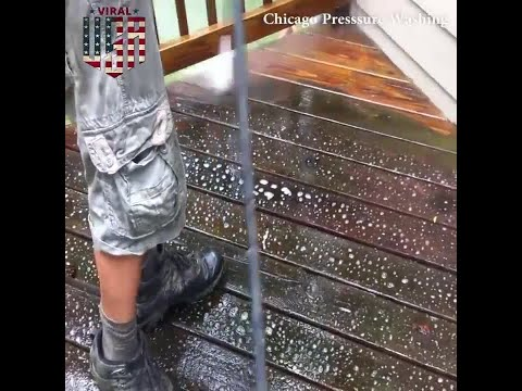 Pressure Washing The Floor Of A Deck Credit