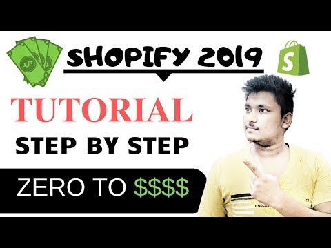 Shopify Tutorial For Beginners 2019 | Build up a Profitable Shopify Store from Scratch thumbnail