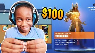 Kid Spends $100 On Season 7 *MAX* Battle Pass With Brother's Credit Card (Fortnite)