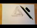 3D Треугольник Обман Зрения Как нарисовать mp3