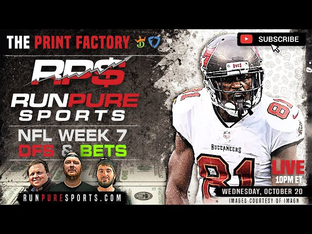 NFL WEEK 7 VEGAS AND DFS PLAYS - PRINT FACTORY PREVIEW