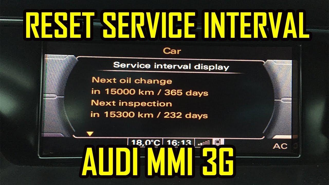 How to Reset Oil Change Service Minder Light on Audi Q3