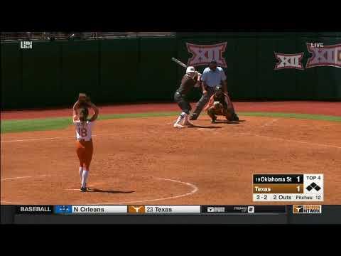 Oklahoma State vs Texas Softball Highlights - Apr. 22